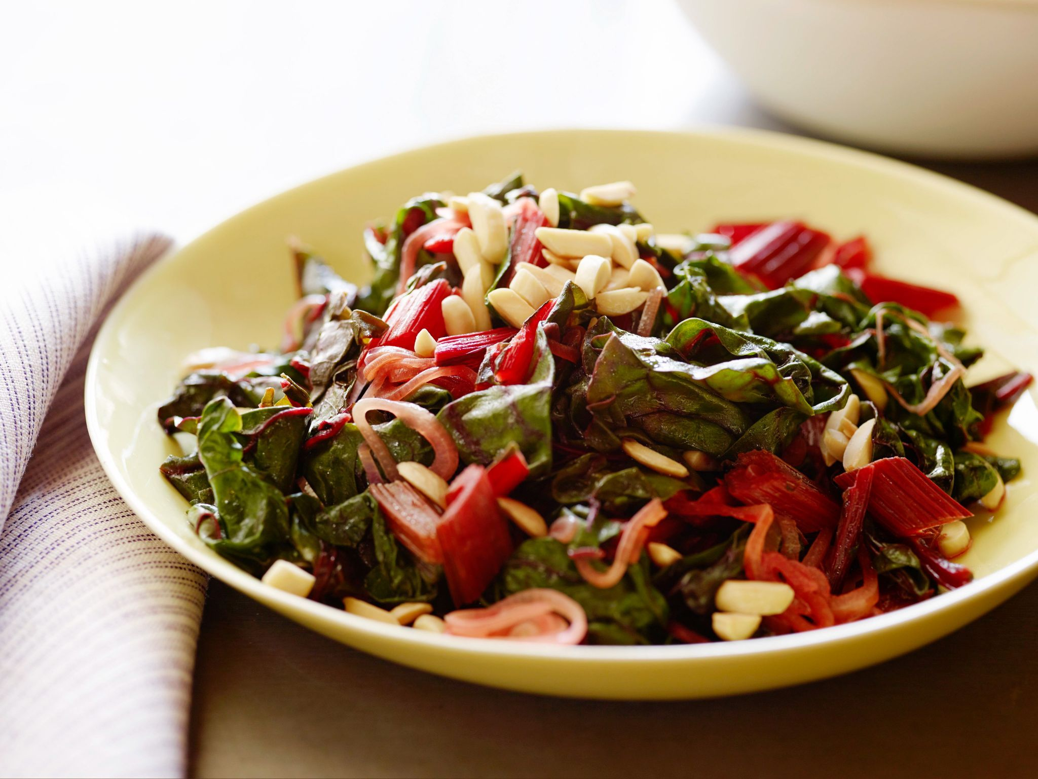 Sauteed swiss chard with shallots and almonds recipe sauteed sauteed swiss chard with shallots and almonds chard recipesveggie recipesdinner recipeseasy forumfinder Choice Image