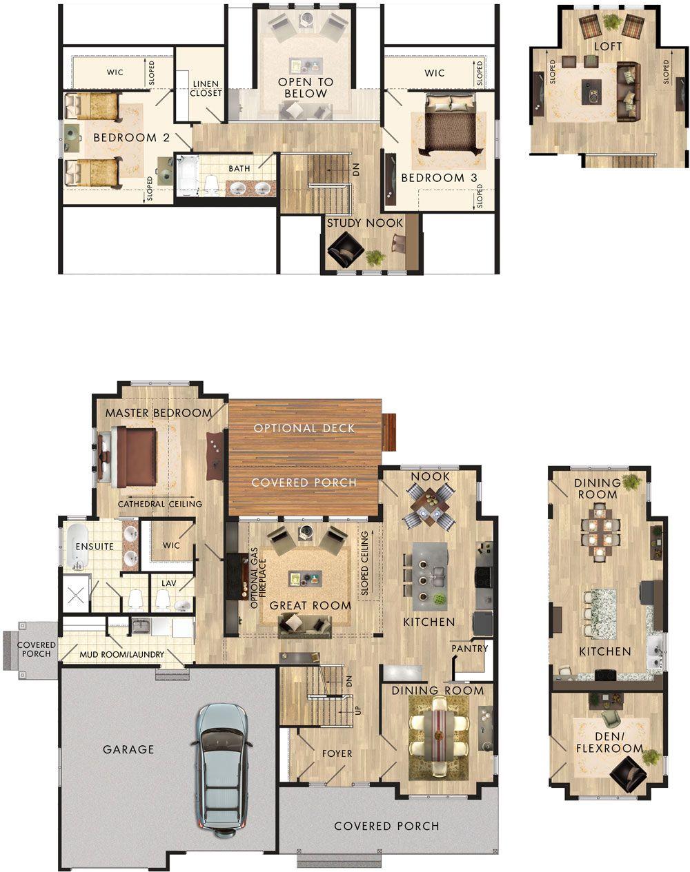 Killarney Floor Plan - to make into a single story, 2 bedroom ...