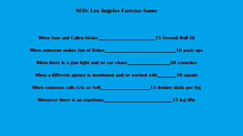 Get fit while watching your favorite show! #exercise #workout #NCISLA