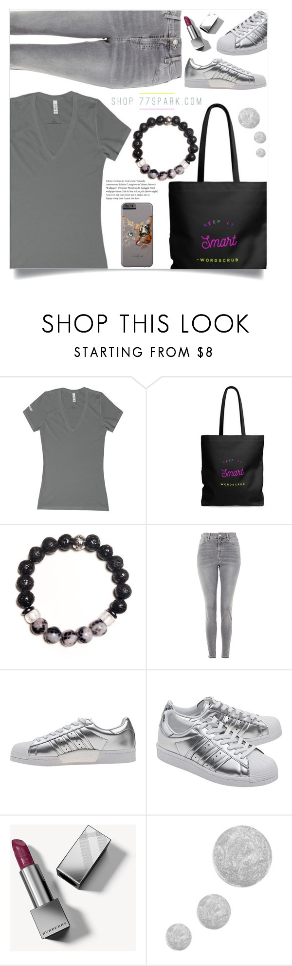"""""""Keep it smart! (12)"""" by samra-bv ❤ liked on Polyvore featuring Topshop, adidas Originals, Burberry and Kitty Kat"""
