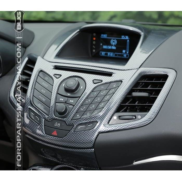Head Unit Cf Look Decorative Trim Ford Fiesta Interior