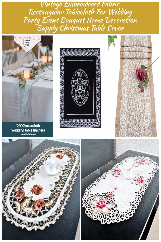 Diy Cheesecloth Or Gauze Wedding Table Runners Laurel Twist Co Boho Wedding Rustic Chic Wedding Table Runners Wedding Rustic Chic Wedding Wedding Table