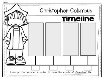 Columbus Day Timeline For Kindergarten And First Grade Social Studies Social Studies Kindergarten Social Studies Social Studies Activities