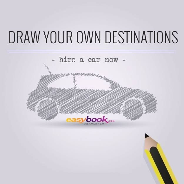 Draw your own destinations with Easybook.com #car #rental | Easybook ...