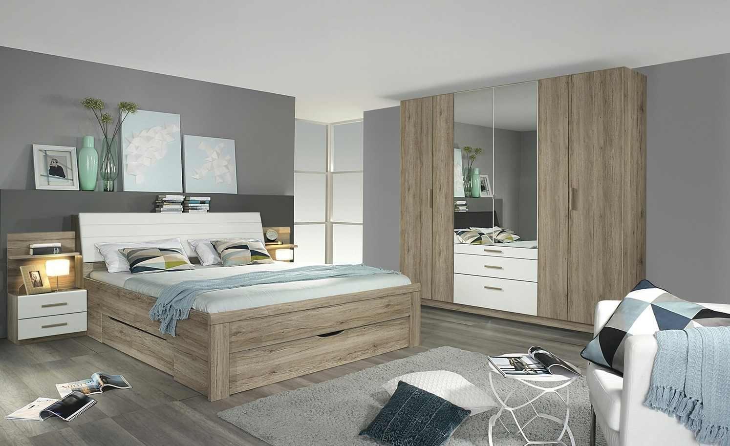 Schlafzimmer komplett, wandverkleidung holzbeleuchtung ...