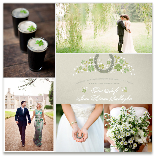 Rich with the feeling of nature's elegance, an Ireland-inspired wedding is equally romantic and innocent. @Minted @2birdstone