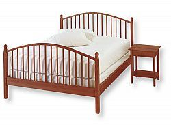 A beautifully crafted bed with traditional styling, the kind you might find in a country inn. Made to last with sturdy solid hardwood. Includes hardwood slats. Imported. Assembly required. Twin...