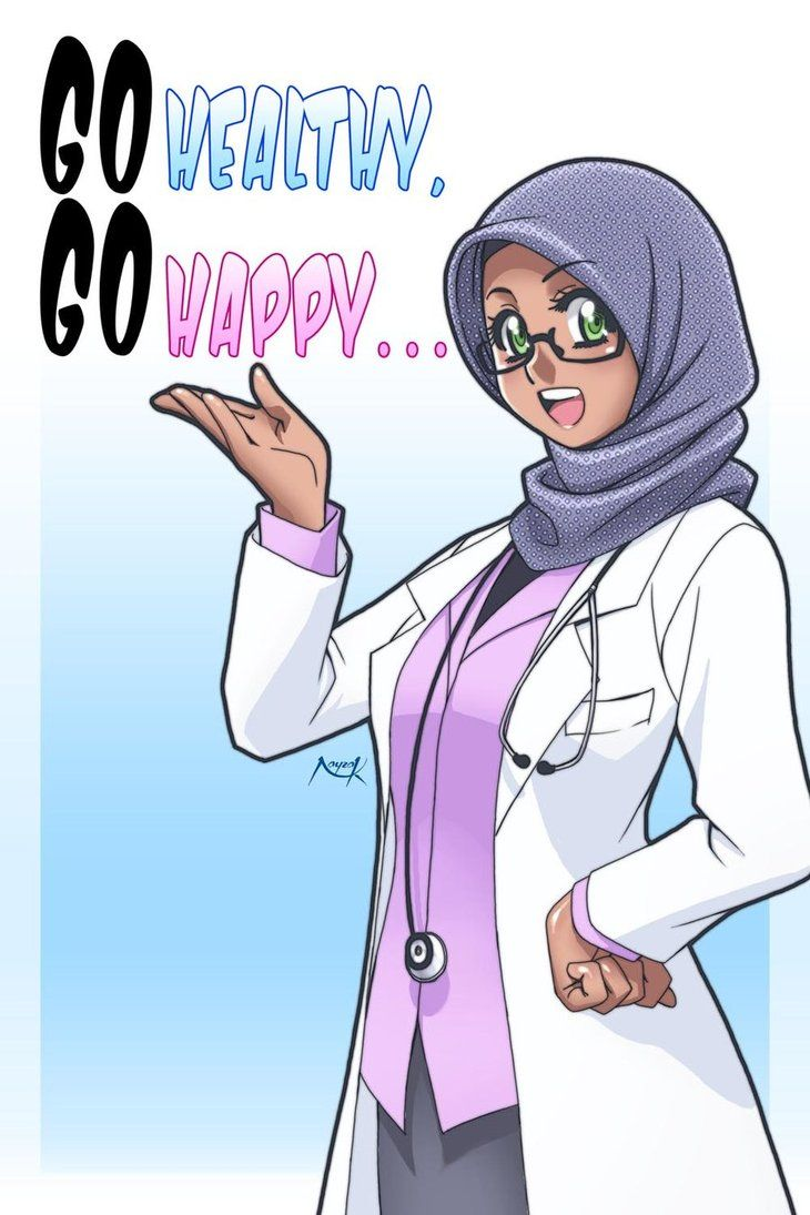 Go Healthy, Go happy by Nayzak Anime muslim, Islamic