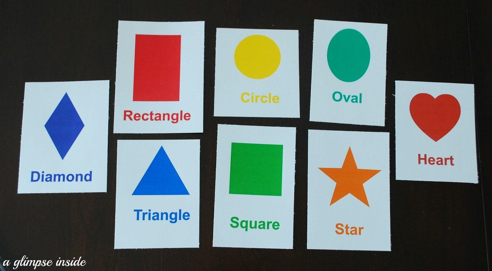 Printable Shapes Flash Cards