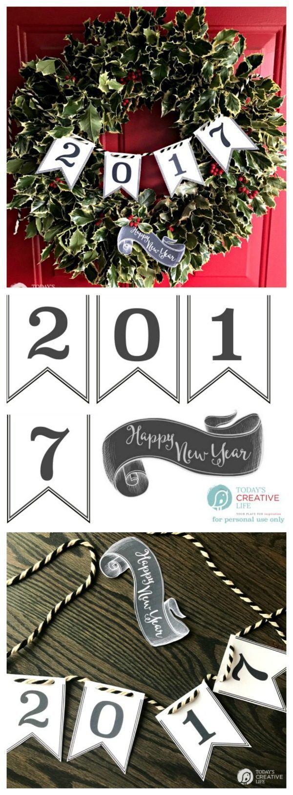 happy new year 2017 printable banner free printable banner printable banner and free printable