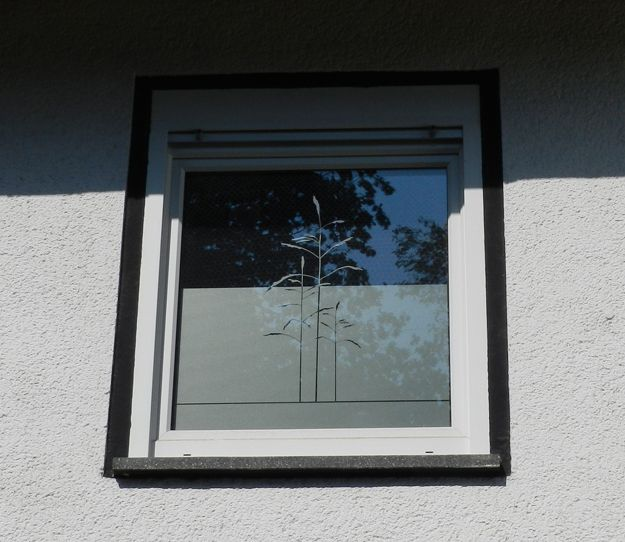 Sichtschutz Folie für Fenster mit Gräsern Folie für