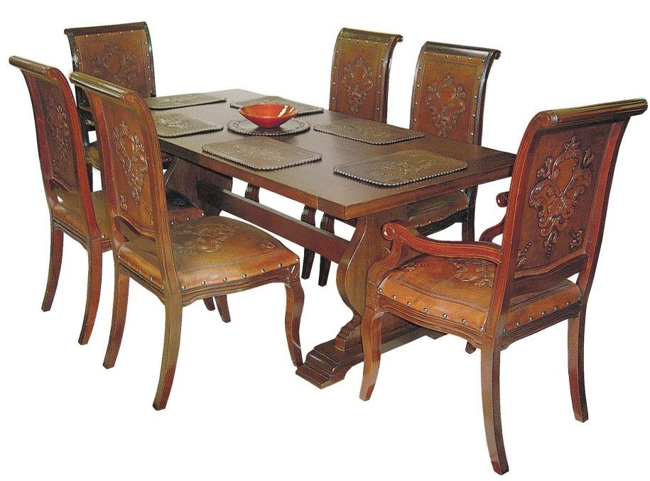 Wooden Dining Table Designs With Glass Top: Beautifull Wooden Dining Table  Designs Classic Stayles ~