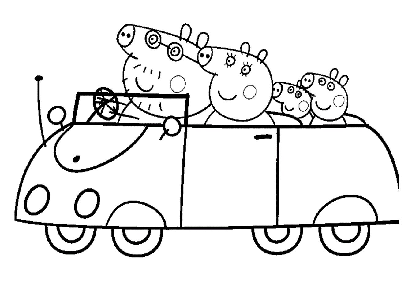 Peppa Pig Printable Coloring Pages Coloring Pages Peppa