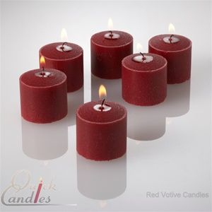 Yummi Set of 24 Vanilla Cream Scented Votive Candles in Clear Glass