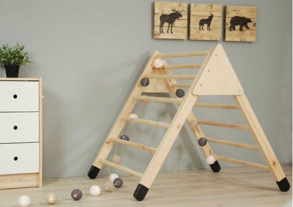 Drabinka Gimnastyczna Dla Dzieci Trojkat Emmi Pikler Toddler Bed Home Decor Decor