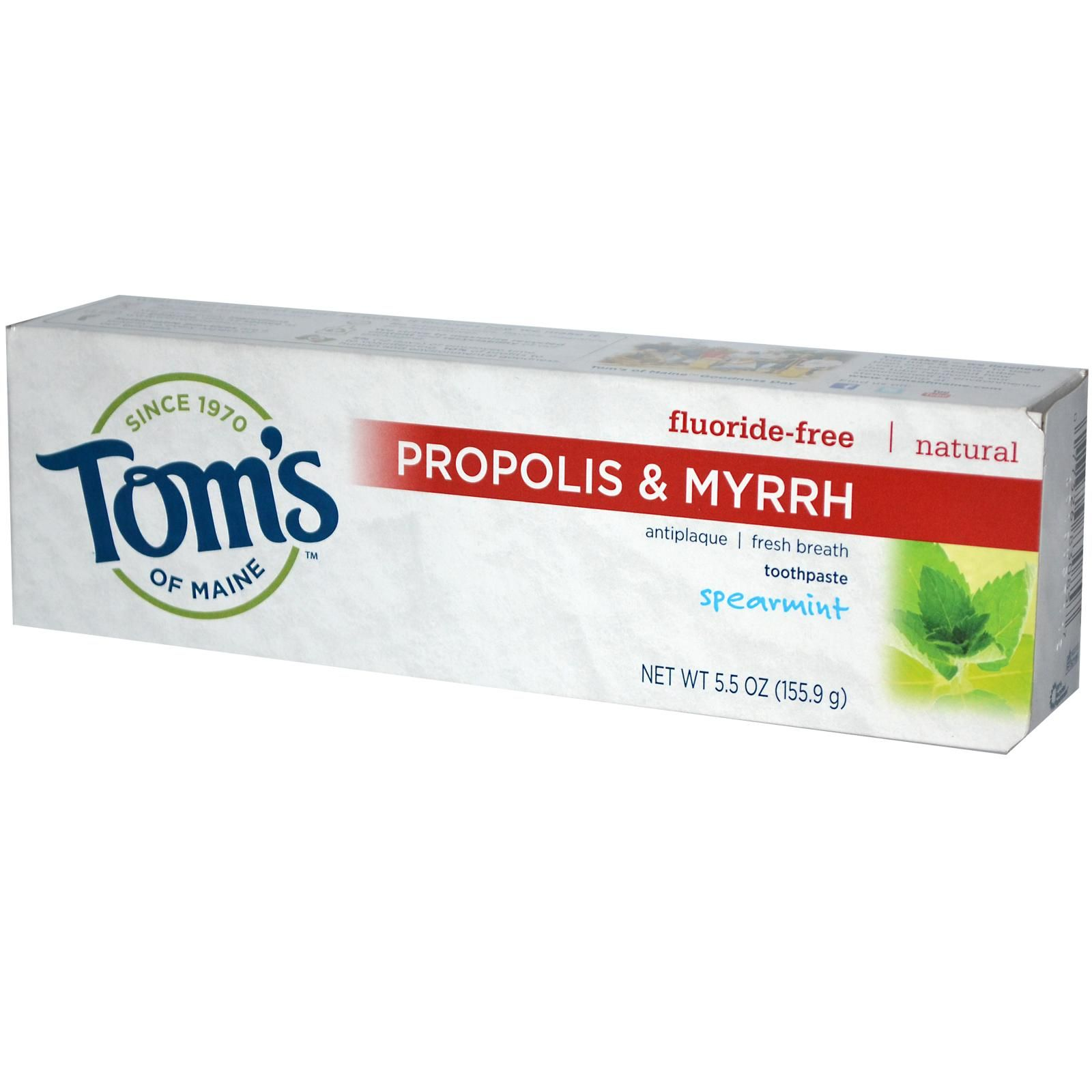 This is my favorite Tom's toothpaste - the propolis and myrrh has helped me achieve better dental visit results for years.