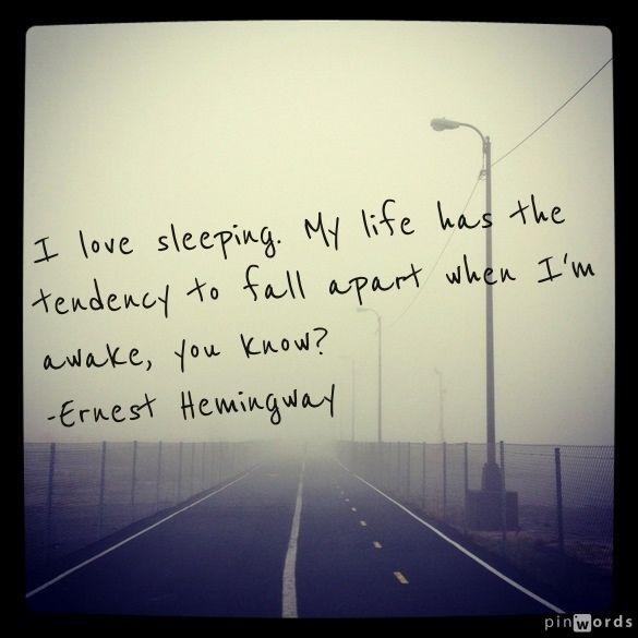 Falls Apart. Hemingway.