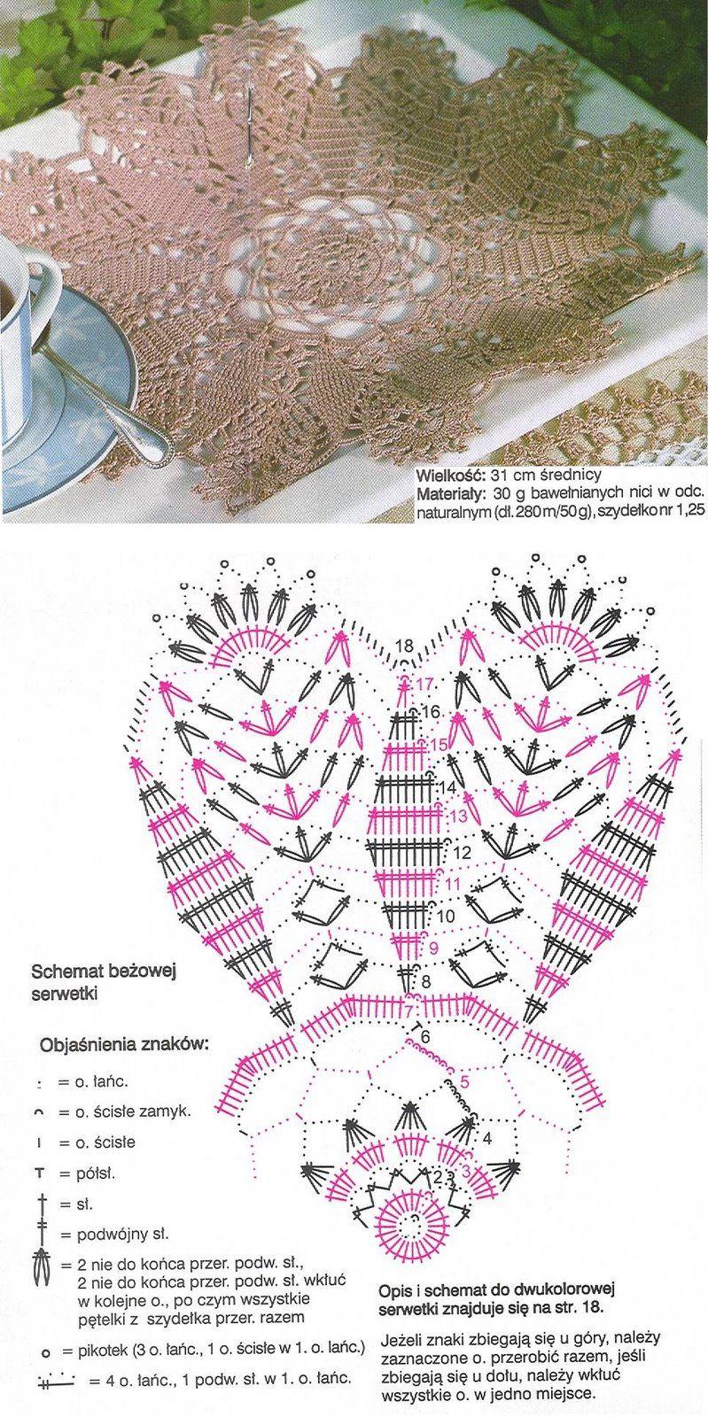 Crochet Doily Diagram Robtki Basia Pinterest Patrones 2 Patterns Pin