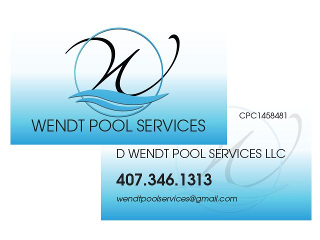 Wendt Pool Services Business Card Pool Service Pool Companies Logos