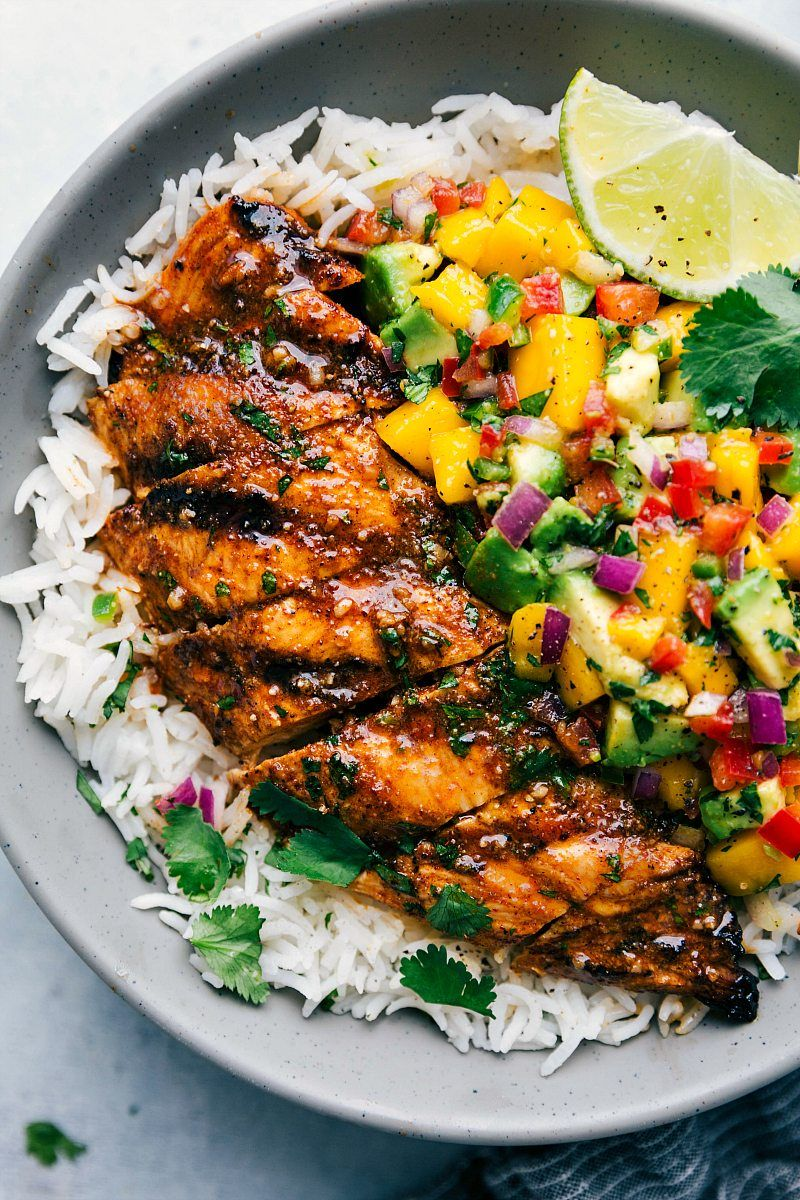 Cilantro-Lime Chicken with a Mango Avocado Salsa | Chelsea\'s Messy ...