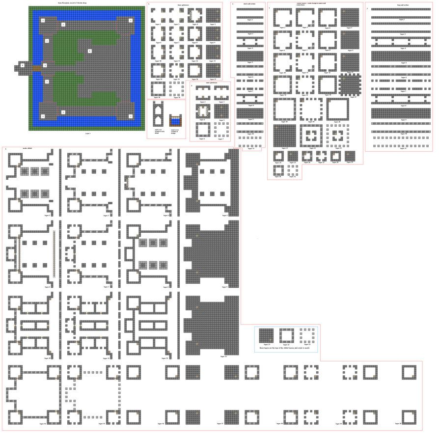 Minecraft Floorplans Mid Sized Castle By Falcon01 Build This Redstone Circuits