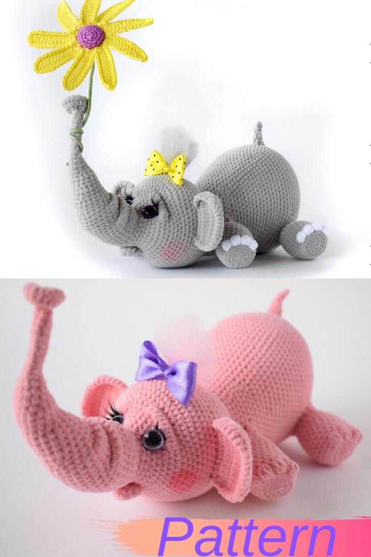 Pattern elephant Crochet #crochetelephantpattern