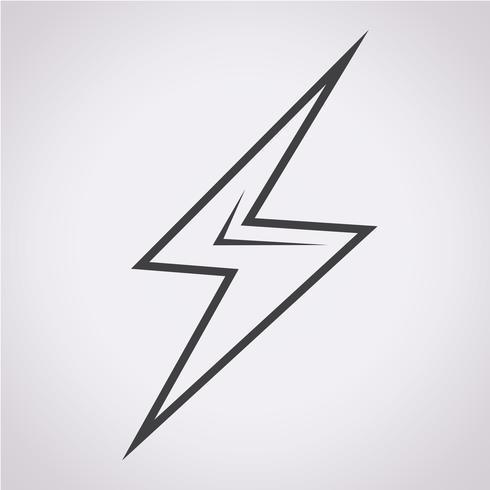 Lightning Icon Symbol Sign Vector Icons Illustration Lightning Logo Lightning