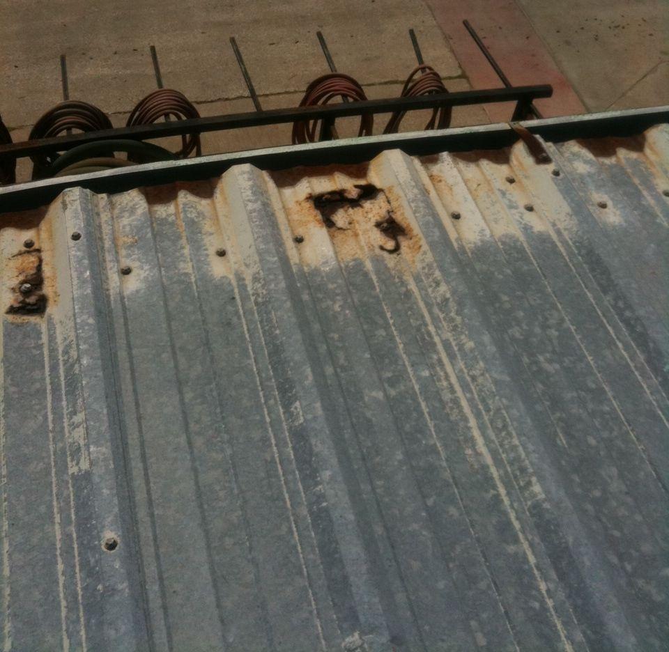 How To Repair Rust Holes In Metal Roof In 2020 Metal Roof Metal Buildings Metal Shed