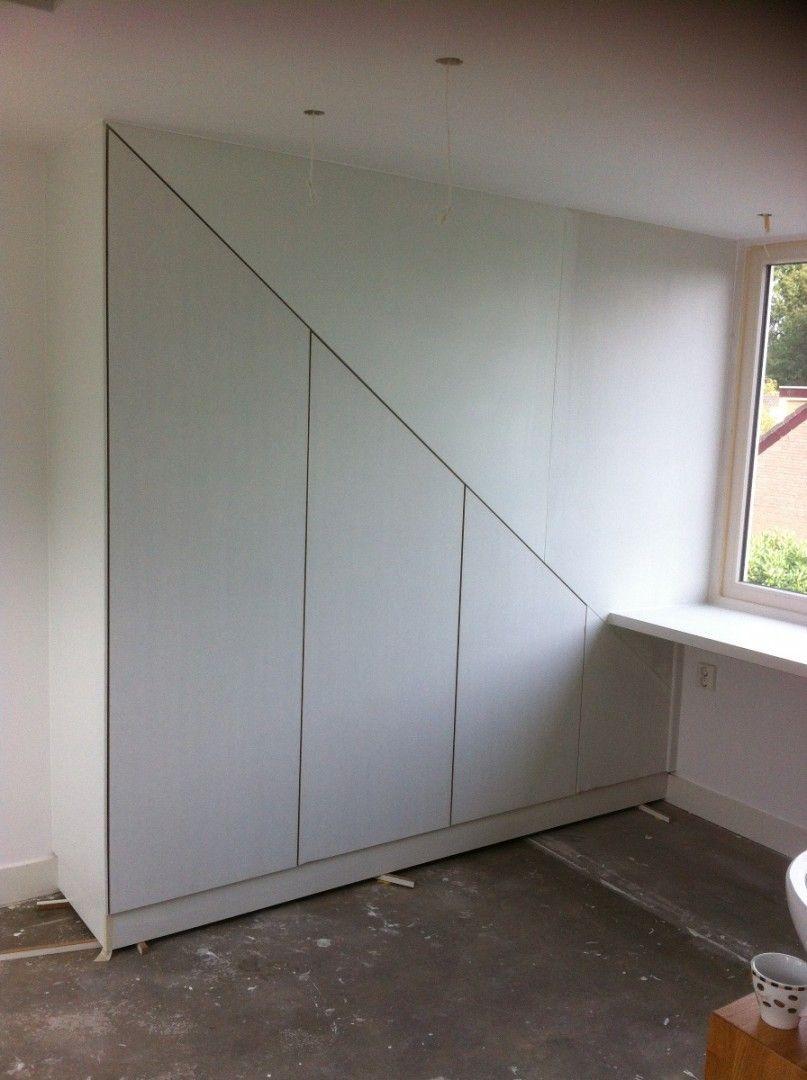 maatwerk-kast-onder-schuin-dak (5) | wonen | Pinterest - Kast ...