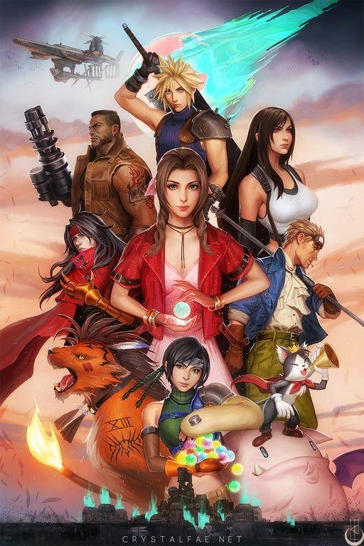 My Ff7 Artwork Ffviiremake Final Fantasy Vii Final Fantasy Art Final Fantasy Collection