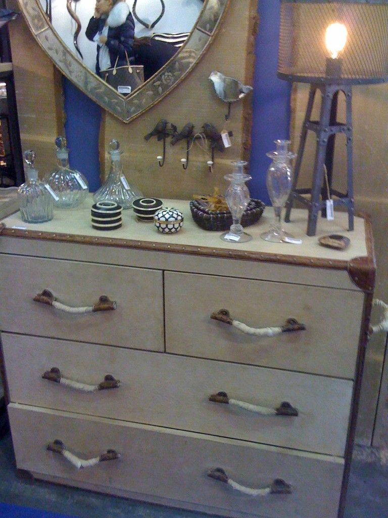 The Leather Trim On This Dresser Is Interesting Rope Drawer Pulls Are A Bit Too Nautical For Me But It Would Be To Make Look