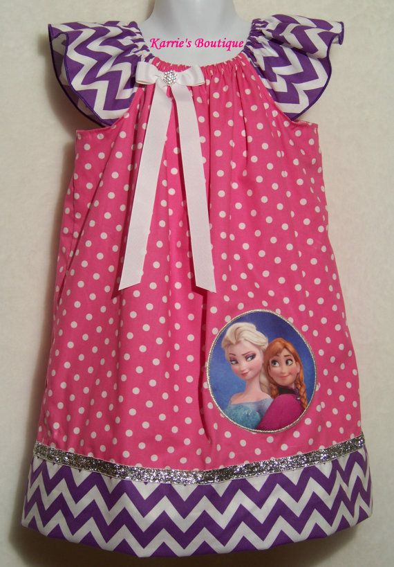 ELSA & ANNA Dress / SISTERS Forever / Pink / Purple / Disney Frozen ...