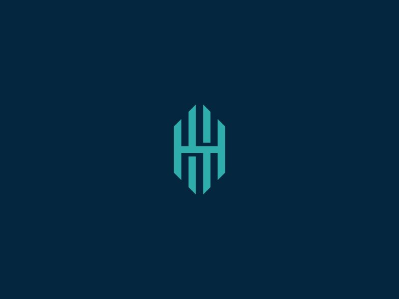 Hh Monogram Monogram Logo Design Graphic Design Logo Typography Logo Design