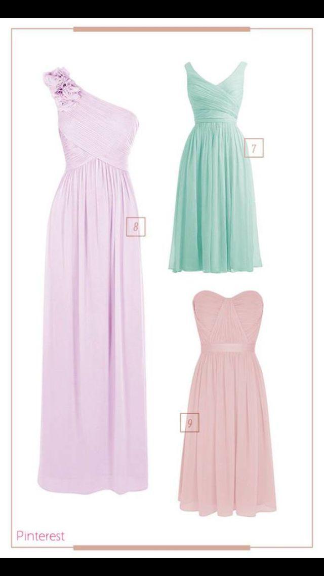 Estilos de vestidos para damas de honor | Damas de honor | Pinterest ...