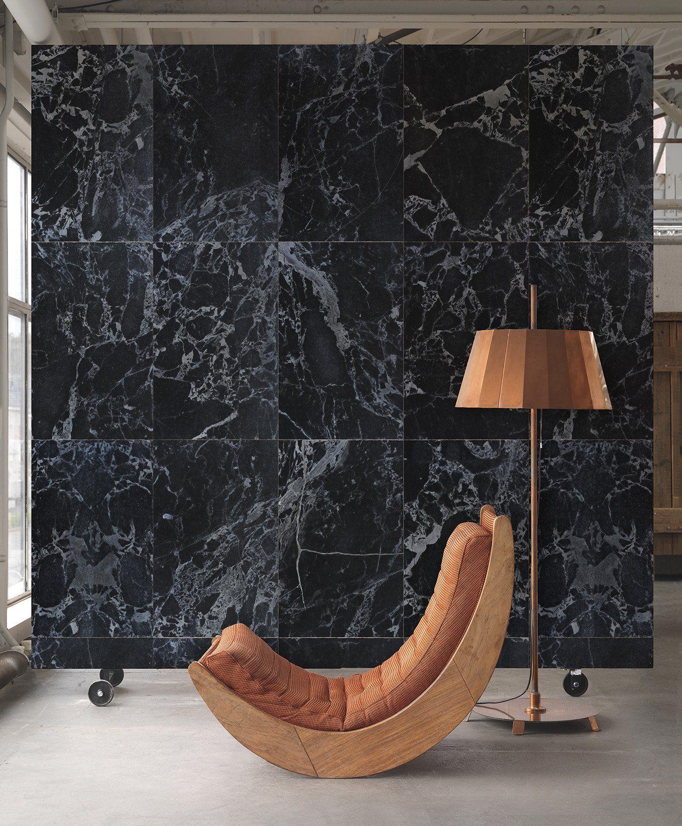Black Marble Wallpaper Design By Piet Hein Eek For Nlxl Wallpaper Marble Wallpaper Marble Black Wallpaper Faux Tiles