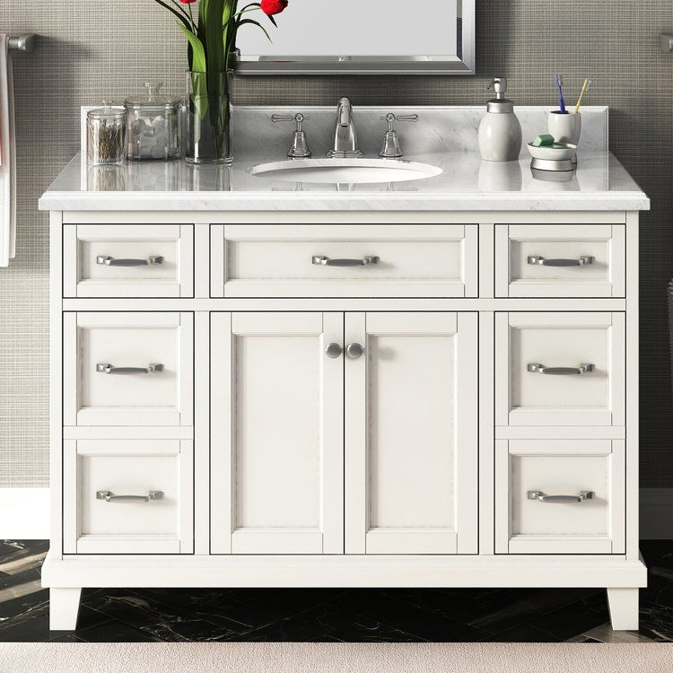 lanza carolina 48 single bathroom vanity set in 2018 home decor rh pinterest com