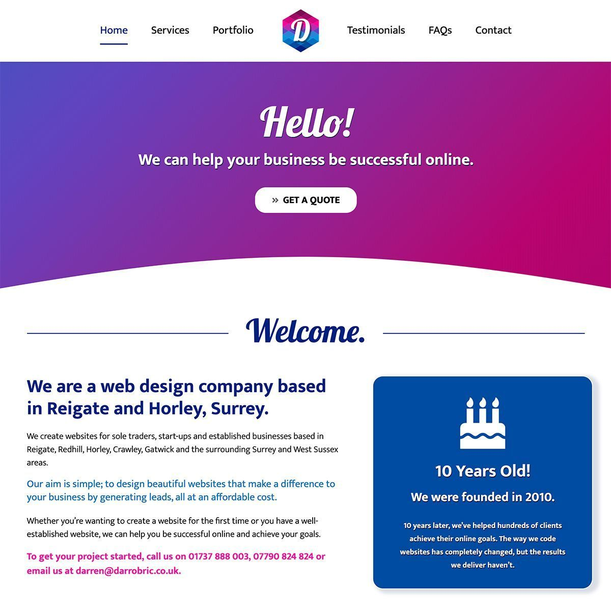 Web Design In Reigate Redhill And Horley Surrey In 2020 Web Design Create Website Web Design Company