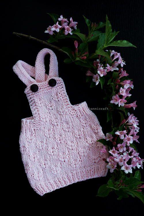 Little Gardener's Pinafore Dress   Baby knitting, Aran ...