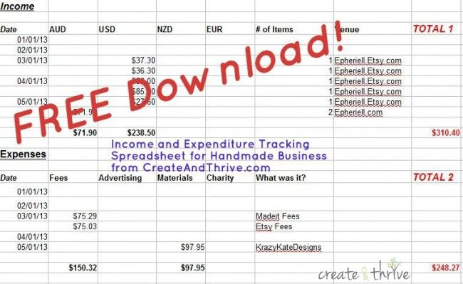 CT QA \u2013 How do you Track your Income and Expenditure? (+ Bonus - sales spreadsheet