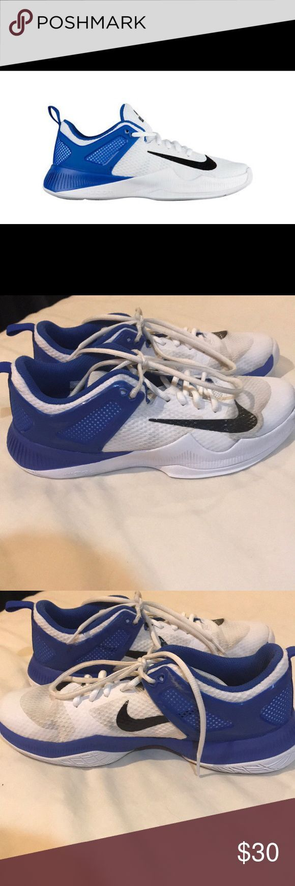 Nike Volleyball Shoes Blue And White Worn Cracked On Bottom Nike Shoes Athletic Fashionaccessories Fas Volleyball Shoes Nike Volleyball Shoes Nike Volleyball