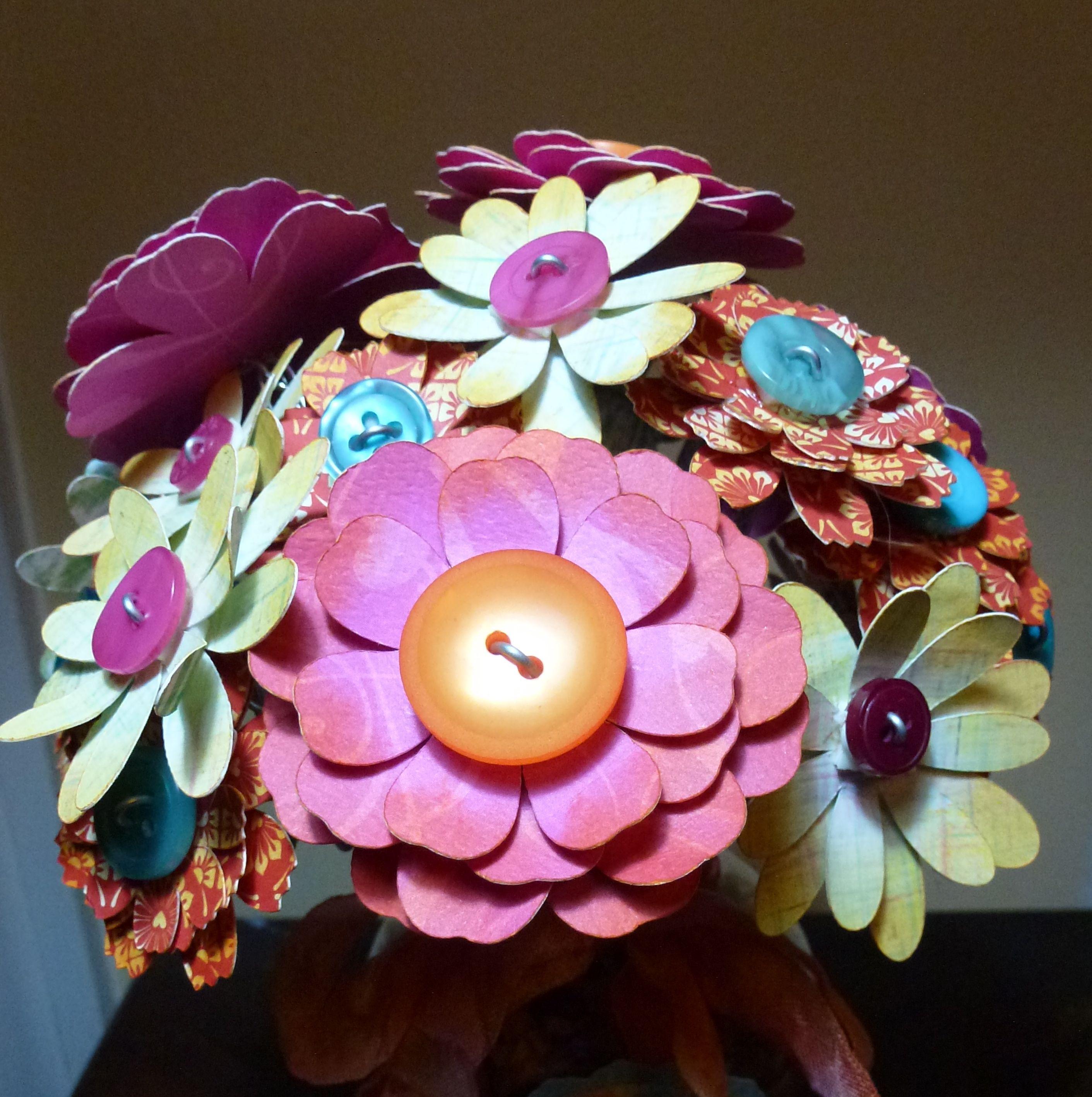 paper flower bouquet cricut