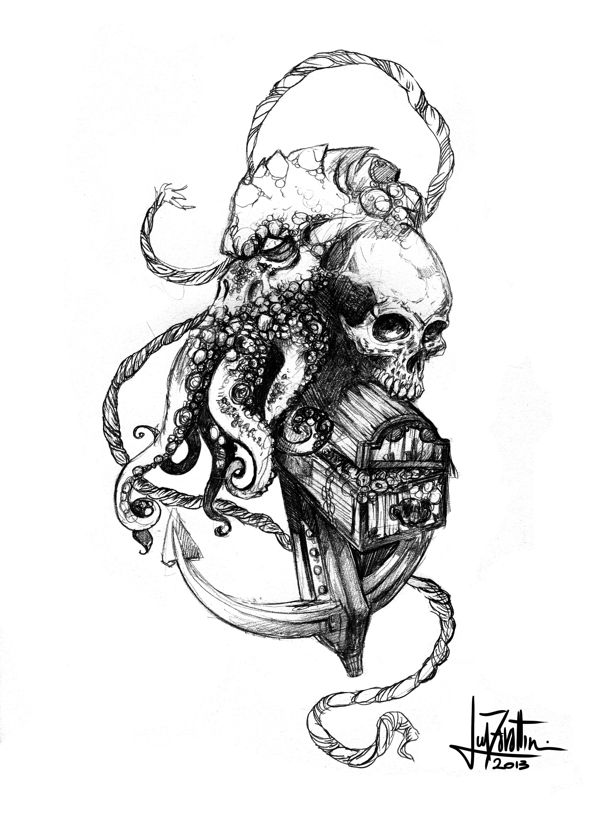 Cthulhu's Tales by Luca Zavattini, via Behance
