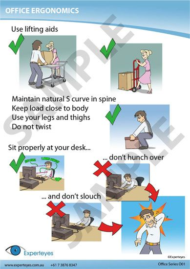Office ergonomics poster life hacks collection for Office design ergonomics