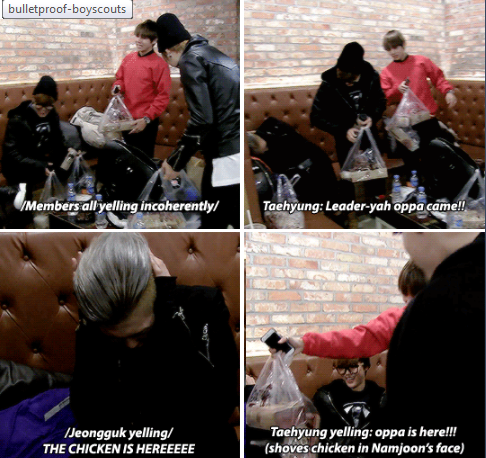 Rapmon missing BTS especially his babies but regrets it after they came XD 2/2
