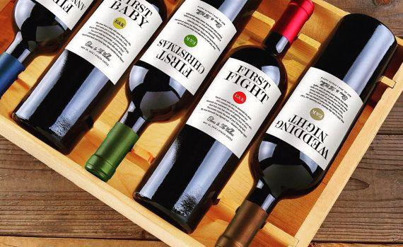 Wedding Milestone Wine Labels Engagement Gift Wedding Gifts