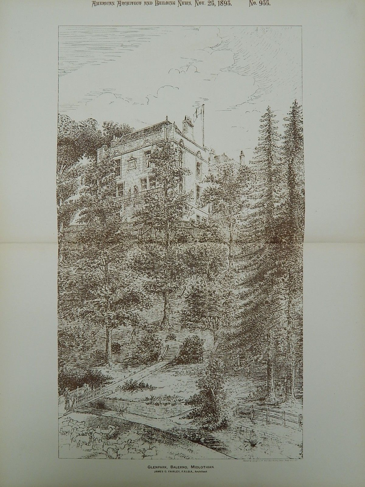 Glenpark, Balerno, Midlothian, Scotland, 1893, James G. Fairley.