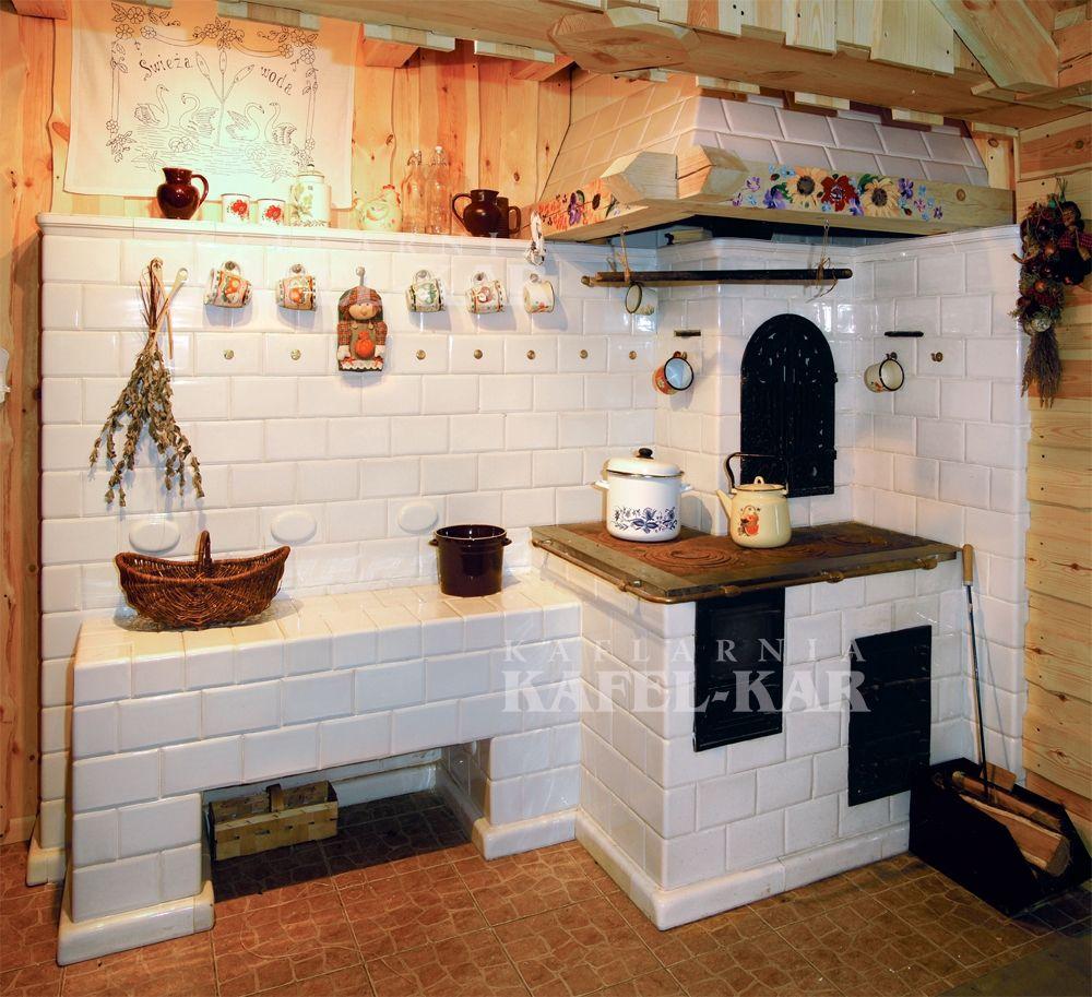 Kafle Piecowe Kuchnie Kaflowe Piece Kaflowe Producent Kafli Piecowych Kaflarnia Kafel Kar Interior Design Kitchen Home Furnace Rustic Kitchen