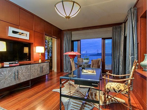 We spy the Golden Gate Bridge from this luxury home office! #view #design