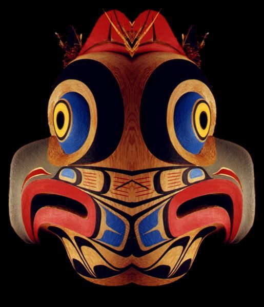 Illustrations Kwakiutl Owl Mask
