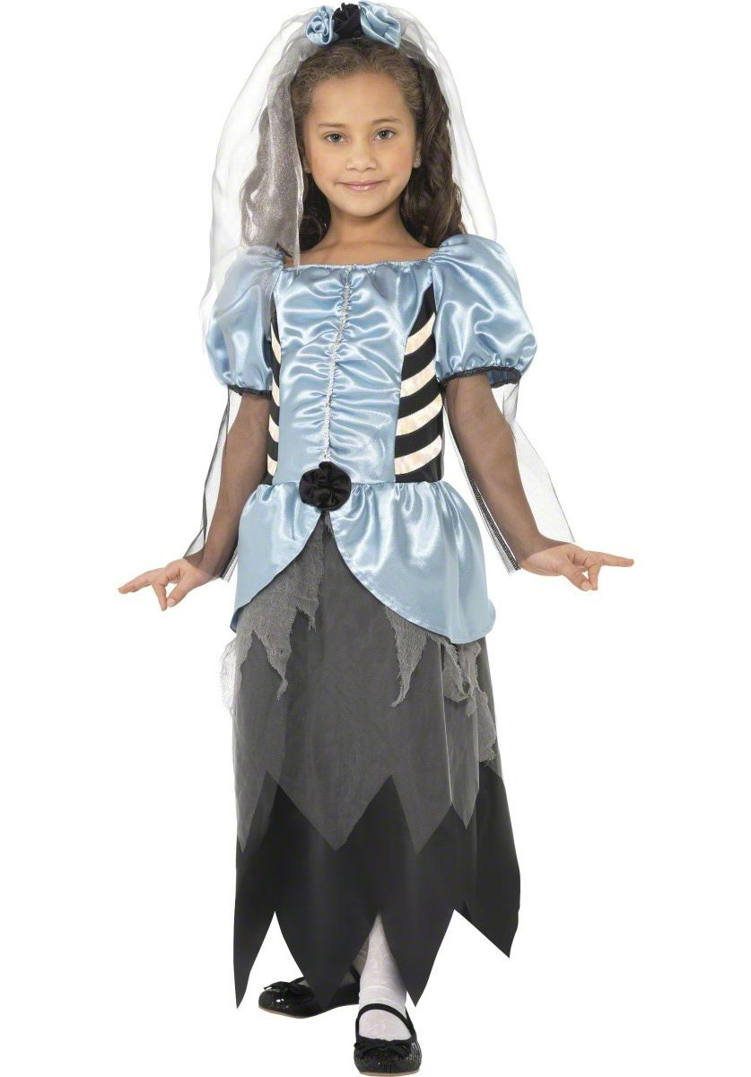 Scary Halloween Costumes For Kids Girls Uk.Kids Gothic Bride Costume Scary Girls Fancy Dress